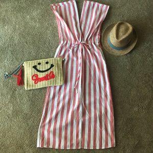 Striped dress with tie waist